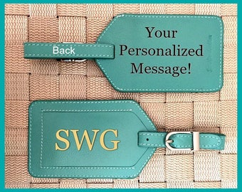 Personalized bridesmaid gift, Destination wedding gift, luggage tag, luggage tags personalized, custom luggage tags, passports Turquoise*