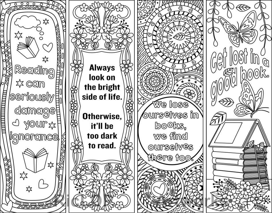 Rare image regarding printable bookmarks black and white