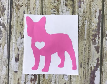 Dog Breed Heart Silhouette Decal
