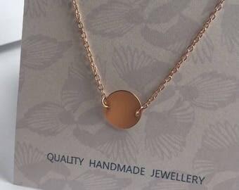 14k Rose Gold Filled Disc Link Bracelet