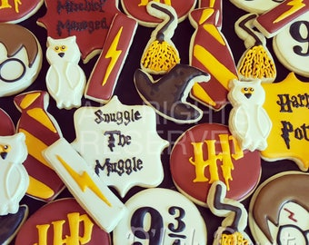 Harry Potter Decorated Sugar Cookies - One Dozen