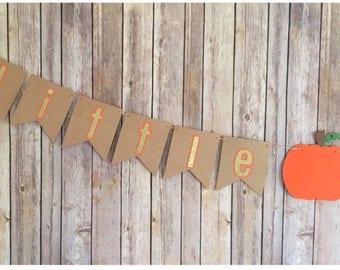 Little pumpkin banner , Little pumpkin baby shower , Little pumpkin birthday banner, Fall banner ,Halloween banner ,First Halloween ,Pumpkin