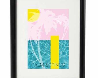 Palm Springs - Art print, interior print, wall print, poster.