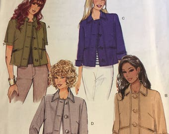 B5617 Butterick Loose Fitting Hip Length Jacket Size 14-20