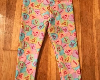 Valentine's Day Candy Leggings - hearts - birthday - sweets - baby valentine outfit - valentines leggings - girls valentines outfit
