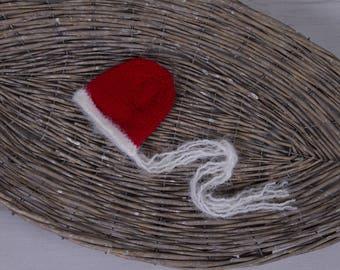 Newborn Christmas Bonnet - Felt Rudolf