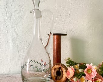 Painted Decanter Floral Design