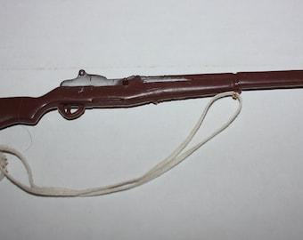 Vintage GI JOE Rifle with White Strap 1960's 1970's