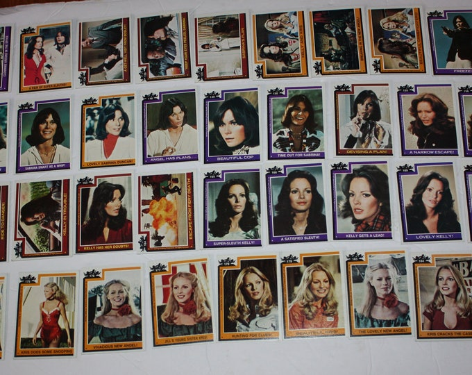 Vintage Lot of 44 Charlie's Angels Trading Cards 1977