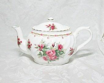 Vintage Arthur Wood & Son Teapot - Rose Pattern