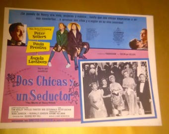 Vintage Spanish Movie Poster The World Of Henry Orient Angela Ransbury/Peter Sellers 1964 ****1960's***