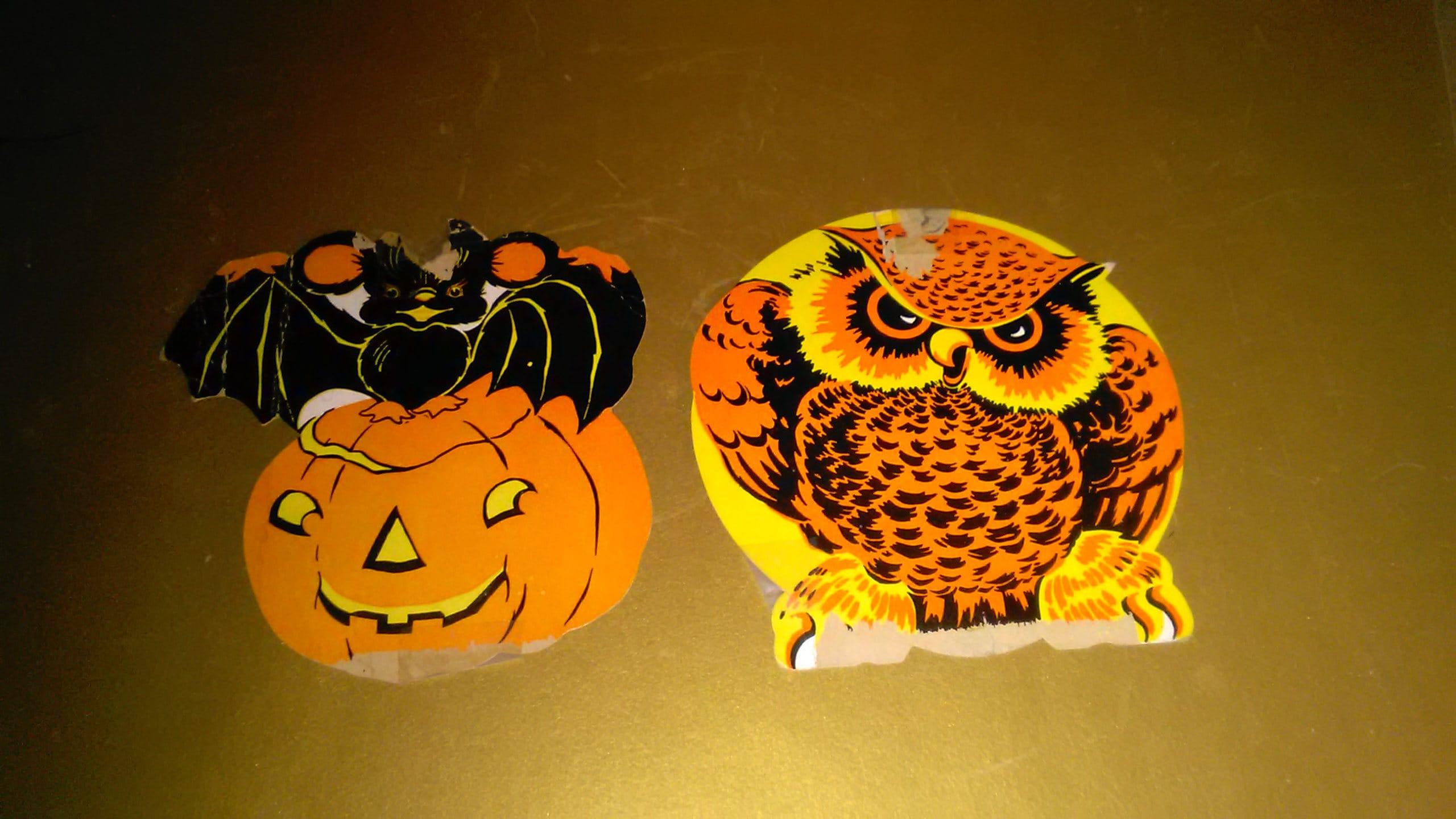 Vintage Halloween Decorations Beistle Die Cuts Jointed 1940s