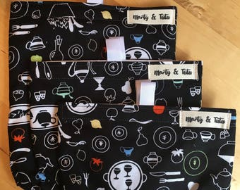 Bags and reusable sleeves