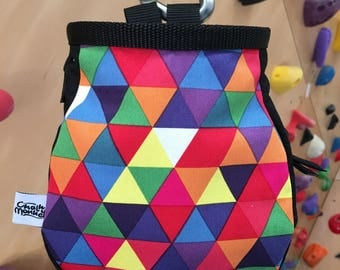 Bright Geometric Chalk Bag