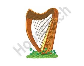 Celtic Harp - Machine Embroidery Design