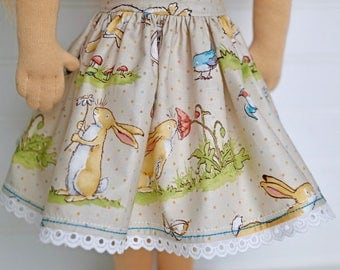 I Love You bunny DOLL skirt