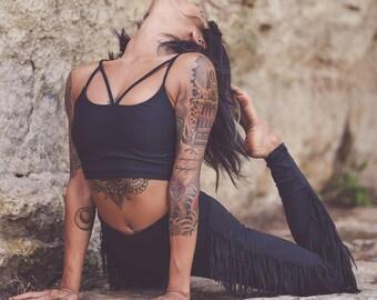 Luna Top, Festival Top, strappy Yoga Top, Bralette, strappy bra, Boho Top, black top, Festival Bra
