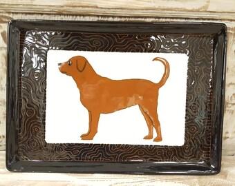 Ceramic Dog Platter Terware
