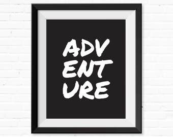 Printable, Adventure Nursery, Minimalist, Instant Download, Gap Year, Poster, Printable Art, Wall Art, Nursery Wall Art, Digital Print