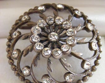 Old Vintage Diamante Buckle