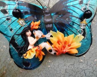 Izumi Koi Fish Mermaid necklace