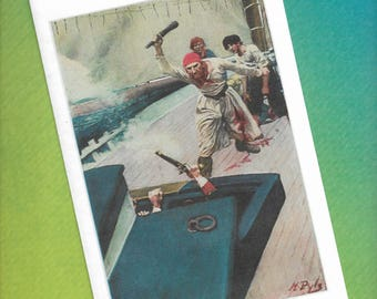 Howard Pyle - Pirates - Blank Greeting Card - Then the Real Fight Began - 1911