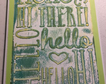 Hello Embossed Card
