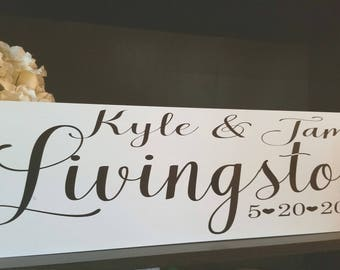 Family Establishment Sign - Wedding Gift - Family Name Sign - Last Name Sign - Personalized Sign - Family Name Plaque - Established Sign