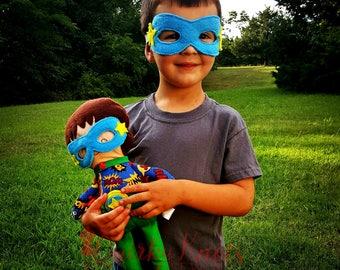 Superhero doll-look a like doll-custom doll-superhero party-superhero nursery-dolls and day dreams-cloth doll-soft doll-compliant doll