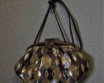 Vintage Handbag Evening Bag Gold Avante