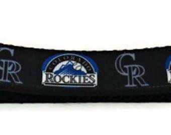 Colorado Rockies Inspired Adjustable Dog Collar