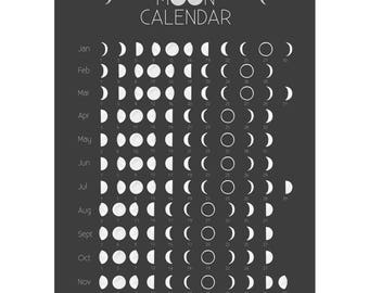 Lunar calendar 2017, print DinA3
