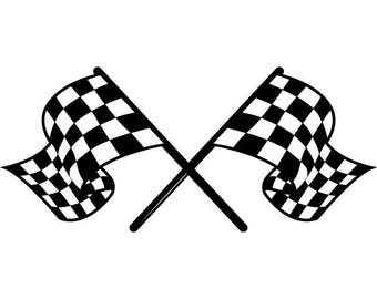 Checkered Flags #1 Superbike Motorcycle Car Truck Nascar Indy Race Racing .SVG .EPS .PNG Digital Clipart Vector Cricut Cut Cutting Download