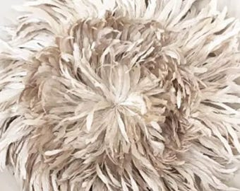 Starburst Natural Off White /Handcrafted Bohemian Feather Decor African JuJu 3 Sizes Available