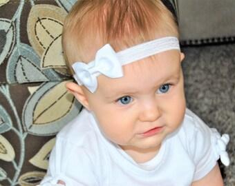 Baby Headbands, Bow Headbands, Elastic Headbands, Soft Headbands, Small Bow Headband, Baby Bows, Grosgrain Bow Headbands