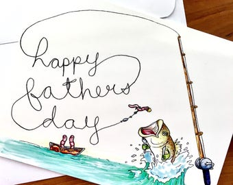Father's Day Card - Father's Day Fishing Card