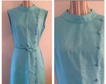 On Sale Lovely Vintage Blue Dress