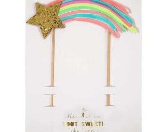 Shooting Star Cake Topper, Glitter Star Cake Topper, Cake Accessories, Party Supplies