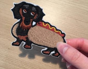 Sausage Dog Iron On Patch