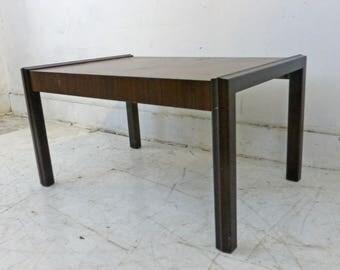 MCM Small Coffee Table Bench Excellent Wood Grain Architectural Design  Danish Modern Dunbar Era