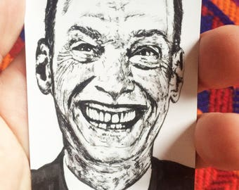 John Waters //  Pope of Trash // Pink Flamingos // Magnet // Movie Magnet // Refrigerator Magnet // Movie Lover Gift