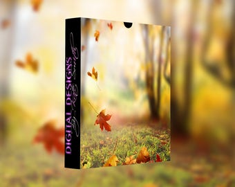 Falling Autumn Leaves Overlays, Separate PNG Files, High Resolution, Instant Download.