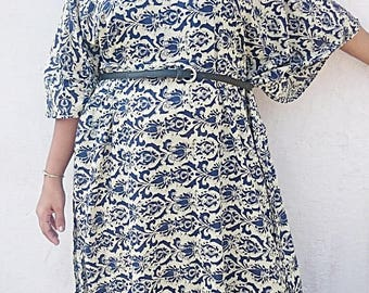 Long Kaftan, Cotton kaftan, kaftan dress, plus size kaftan, beach kaftan, cotton kaftan, maternity robe. Cotton robe, cotton dress