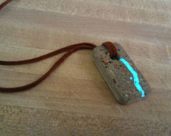 Alien Waterfall: Glow in the Dark Concrete Necklace (FREE SHIPPING)