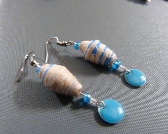 BO Blue Paper beads
