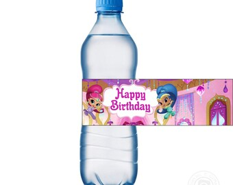 Этикетки на бутылки Шиммер и Шайн/ Shimmer and Shine Water Labels, Shimmer and Shine Party Printable,Shimmer and Shine Tags