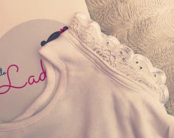 Baby girl Angel sleeveless white vest