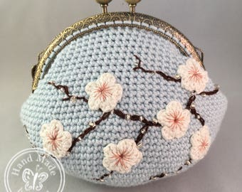 Blue Cherry Blossom *Card Purse
