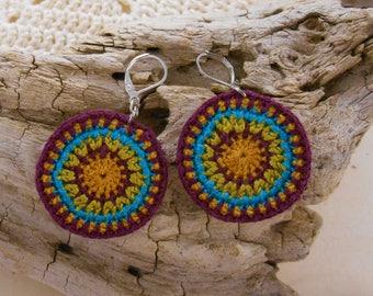 Red turquoise lightweight Bohemian earrings