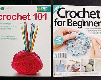 2 Learn Crochet for Beginners Books photo instructions easy patterns how to